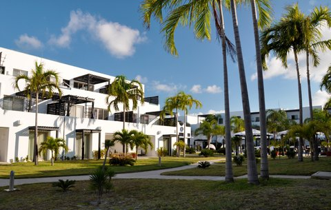 Las Terrazas Resort and Residences - Exterior View of Resort  Sunset and Penthouses