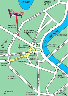 Citotel Le Chantry - Location map