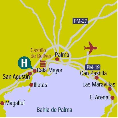 Az Playa Calamayor - Map