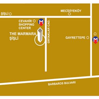 The Marmara Sisli Карта