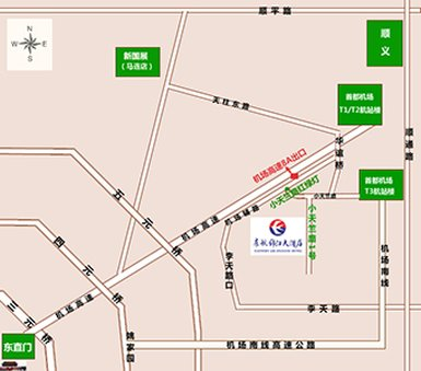 Eastern Air Hotel Mapa
