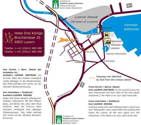 فندق غارني دري كونيغ - Map