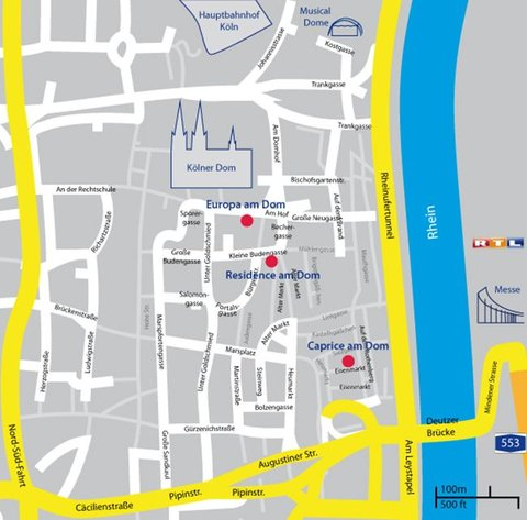 CityClass Hotel Europa am Dom - map