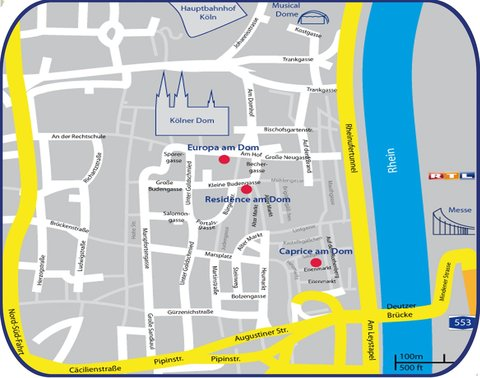 CityClass Hotel Caprice am Dom - Map
