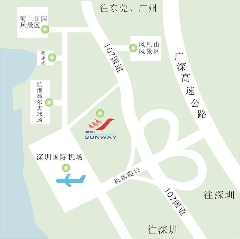 Sun Way Airport Hotel Mapa
