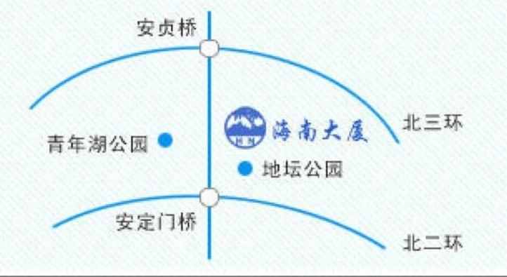 北京海南大厦 地图