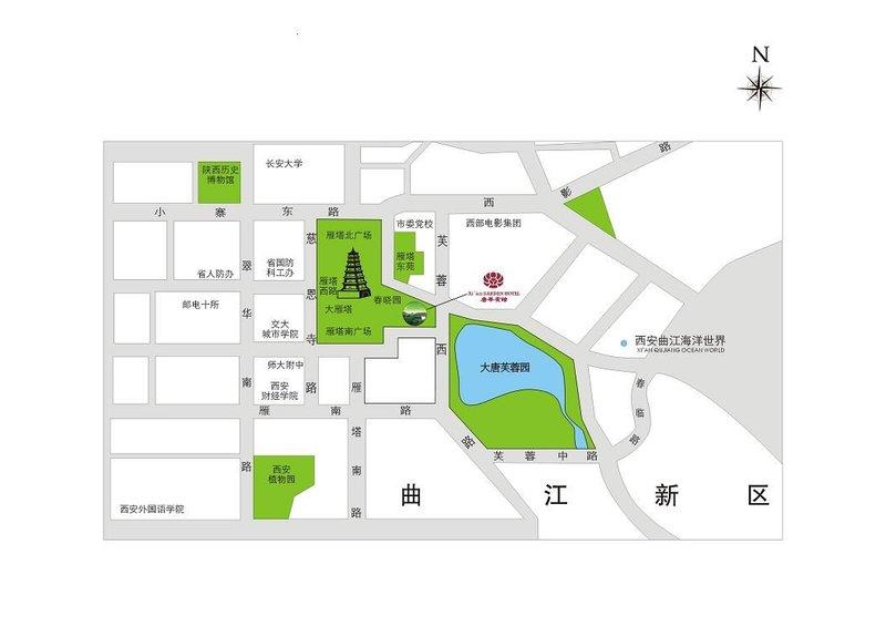 Xi'an Garden Hotel Térkép