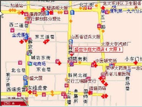 太原百合大酒店 地图