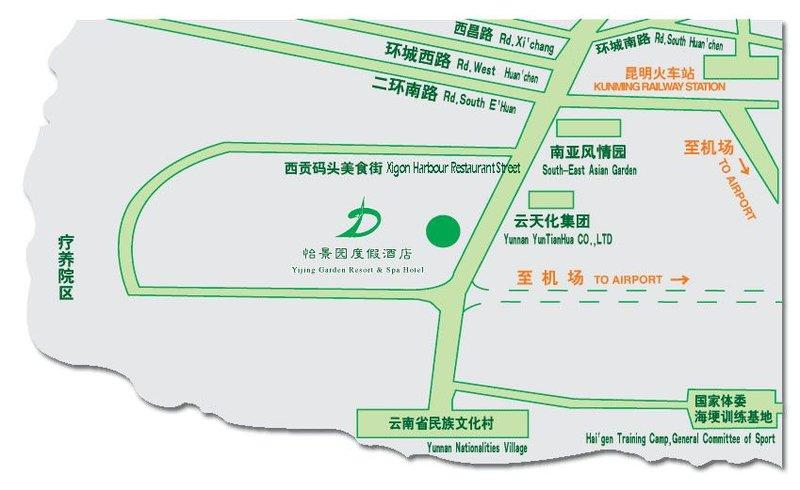 Yijing Garden Hotel Mapa