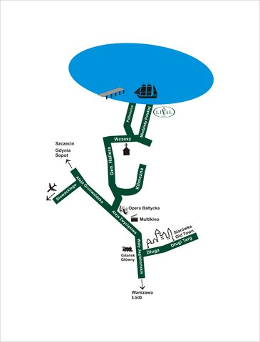 Hotel Lival - Map