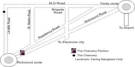 The Chancery Pavilion - Loacation Map