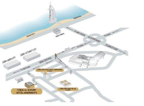 Coral Al Khoory Hotel Apts - Hotel Map