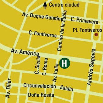 Andalucia Center Hotel Granada - Map