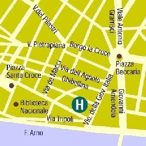 Hotel Home Florence - map