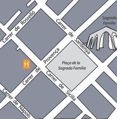 Hispanos 7 Suiza Apartamentos - Map