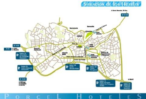 Navas Hotel Granada - Map