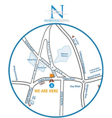 Norfolk Hotel - Map