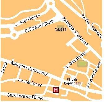 Delfos Hotel Andorra la Vella - Map