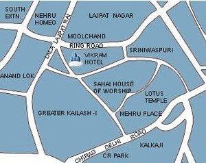 Hotel Vikram - Map