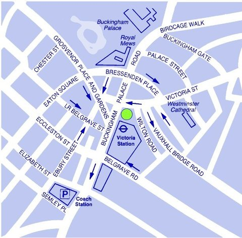 ذا غروفنور - Map