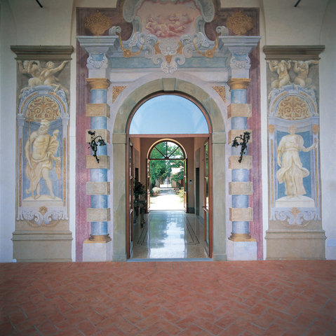 Villa Mangiacane - Frescoes