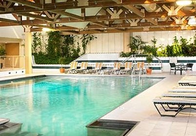 Chicago Marriott Oak Brook Kilátás a medencére