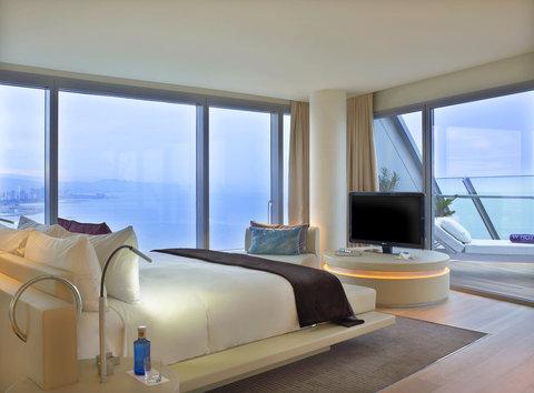 دبليو برشلونة - WOWSuite Bedroom With Mediterranean Views