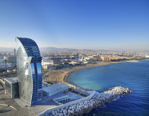 دبليو برشلونة - W Barcelona Aerial View