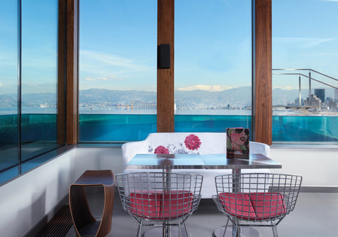 Le Gray - The Pool Lounge overlooking Beirut and Mount Sanni