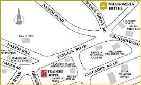Shangri La Hotel Singapore Карта