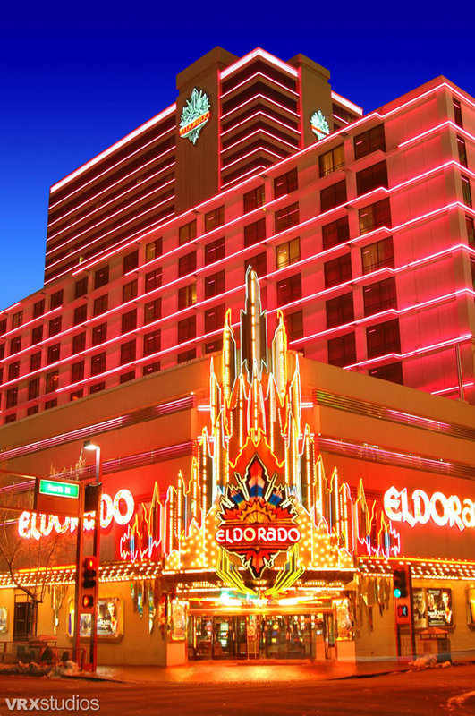 Book the Eldorado Resort Casino at THE ROW - 4 miles from the Reno-Tahoe airport and covering an entire city block, the Eldorado Hotel Casino at THE ROW is connected to Circus Circus and Silver Legacy by skywalk.