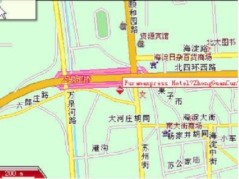 FX Hotel Zhongguancun - Map