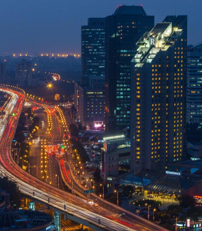 Renaissance Yangtze Shanghai Hotel Pohled zvenku