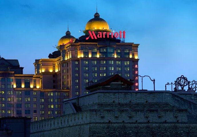 Beijing Marriott City Wall Fasad