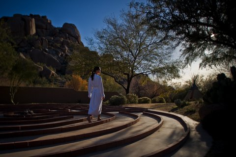 Boulders Resort & Golden Door Spa - The Golden Door Spa Labyrinth - Shelby - 01 08
