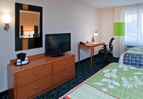 Fairfield Inn & Suites Albany - Queen Queen Guest Room