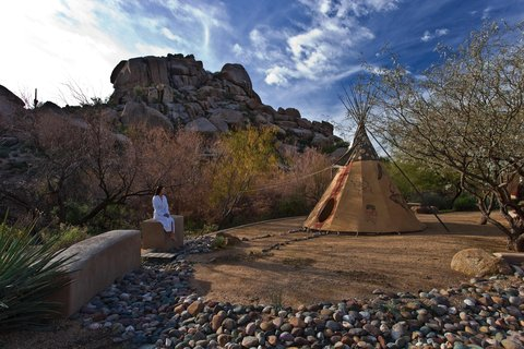 Boulders Resort & Golden Door Spa - Golden Door teepee  Shelby 01 08