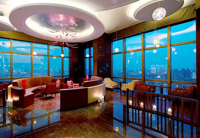 Shanghai Marriott Hotel Changfeng Park Bar/salón
