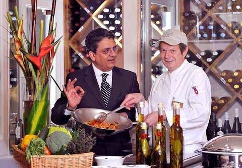 漢堡機場萬豪庭院酒店 - Show Cooking