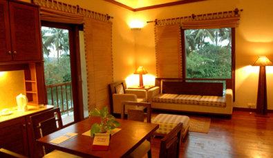 Vedic Village Spa Resort - Lakeside Villa Living Room