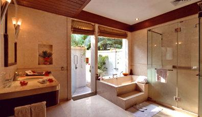 Vedic Village Spa Resort - Lakeside Villa Bathroom