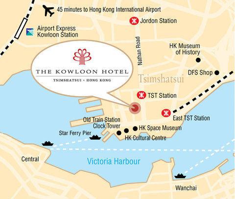 The Kowloon Hotel - Map