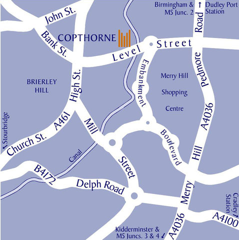 Copthorne Merry Hill - Map