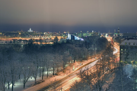 Crowne Plaza HELSINKI - Suite view by night