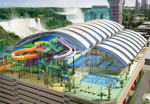 Fallsview Indoor Waterpark is connected to the Crowne
