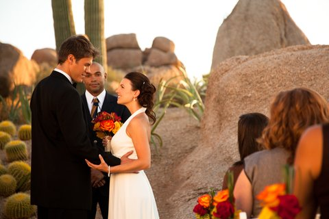 Boulders Resort & Golden Door Spa - Wedding Ceremony Promise Rock  Sams 07 10