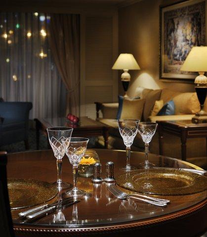 فندق ماريوت القاهرة و كازينو عمر الخيام - Diplomatic Suite Dining   Living Room