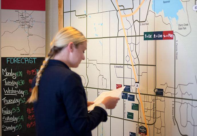 Hotel TownePlace Suites Denver Tech Center Kort