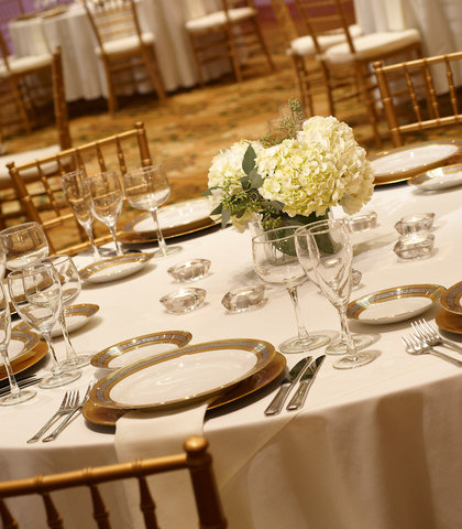 Cincinnati Kingsgate Conference Center Hotel - Grand Ballroom Wedding Detail