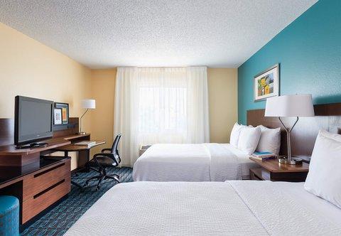 Fairfield Inn & Suites Dallas Park Central - Queen Queen Guest Room